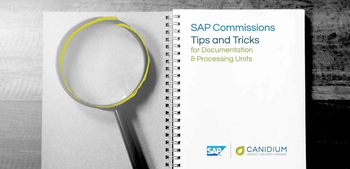 SAP Commissions Tips and Tricks for Documentation & Processing Units