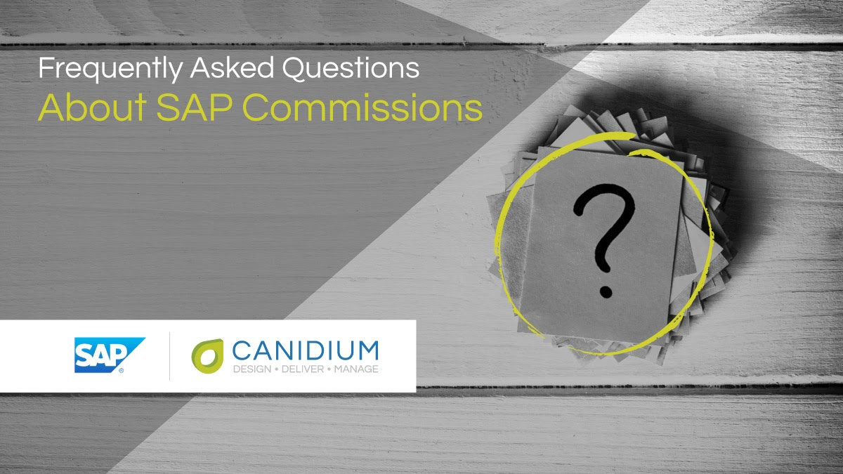 Frequently Asked Questions About SAP Commissions
