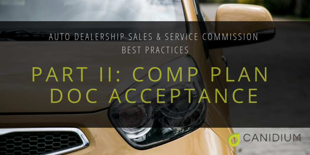 Auto Dealership Sales and Service Commissions Best Practices: Part II