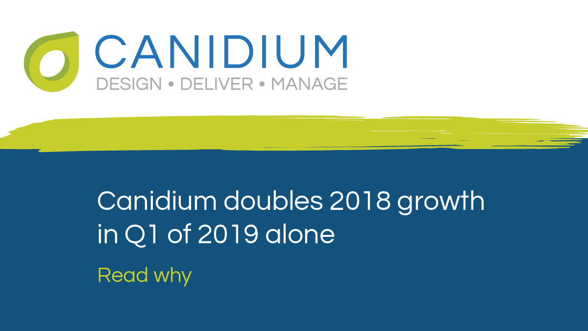 Canidium doubles 2018 growth in Q1 of 2019 alone